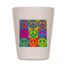 Pop Art Peace Shot Glass