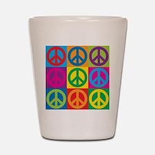 Pop Art Peace Shot Glass
