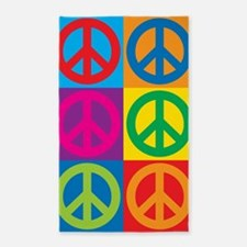 Pop Art Peace Area Rug