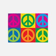 Pop Art Peace 5'x7'Area Rug