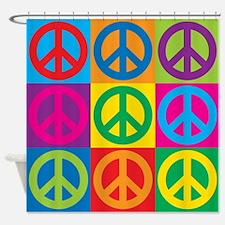 Pop Art Peace Shower Curtain