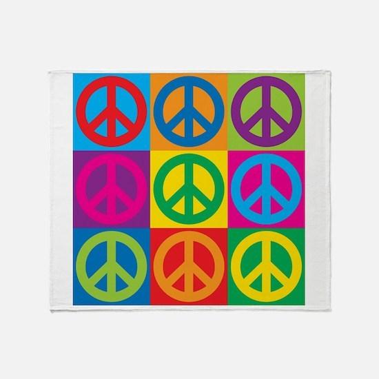 Pop Art Peace Throw Blanket