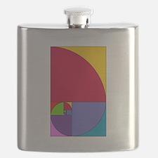 Fibonacci Pop Art Flask