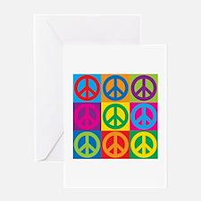 Pop Art Peace Greeting Cards