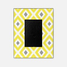Ikat Pattern Yellow and Grey Diamond Picture Frame