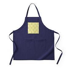 Ikat Pattern Yellow and Grey Diamond Apron (dark)