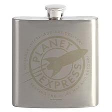 Planet Express Logo Flask