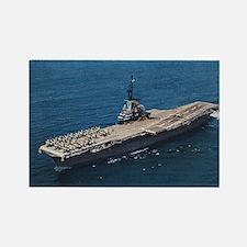 USS Hornet Ship's Image Rectangle Magnet