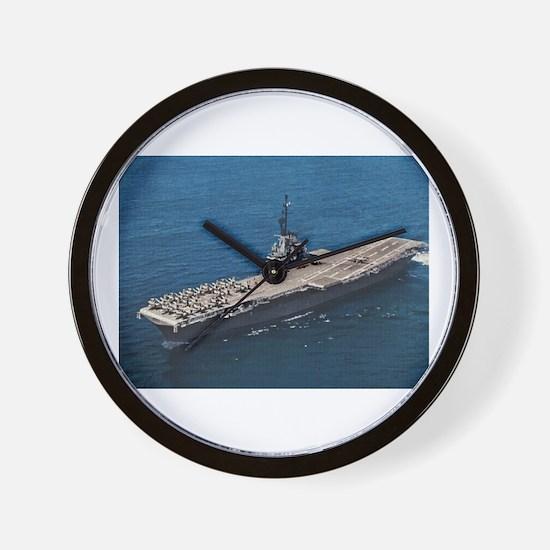 USS Hornet Ship's Image Wall Clock
