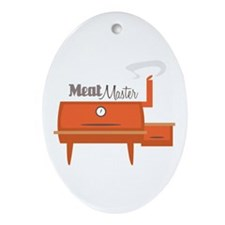 Meat Master Ornament (Oval)