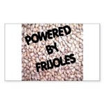 Powered by Frijoles Rectangle Sticker