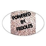Powered by Frijoles Oval Sticker