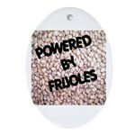 Powered by Frijoles Oval Ornament