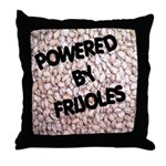 Powered by Frijoles Throw Pillow