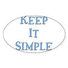 Keep It Simple 5 Oval Decal