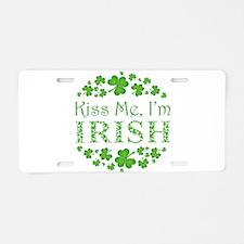 KISS ME, I'M IRISH Aluminum License Plate