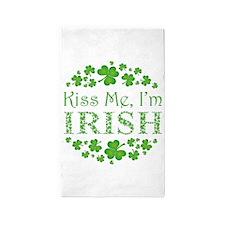KISS ME, I'M IRISH Area Rug