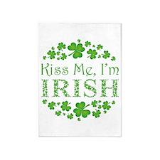 KISS ME, I'M IRISH 5'x7'Area Rug