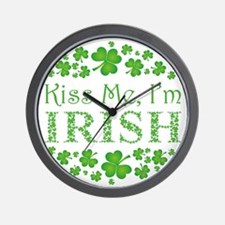 KISS ME, I'M IRISH Wall Clock