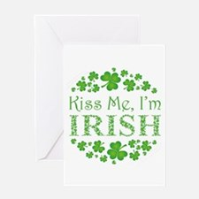 KISS ME, I'M IRISH Greeting Card