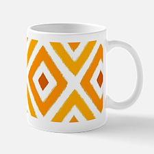 Ikat Pattern Orange Sunset Diamond Mug