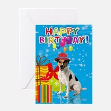 Jack Russell Fun Birthday Card Greeting Cards