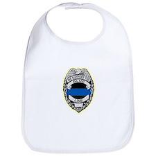 Cute Blue line police Bib
