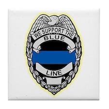 Cute Blue line Tile Coaster