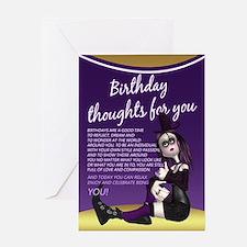Gothic Doll Birthday Card Greeting Cards