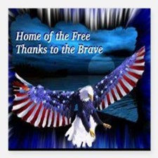 """home of the free.jpg Square Car Magnet 3"""" x 3"""""""