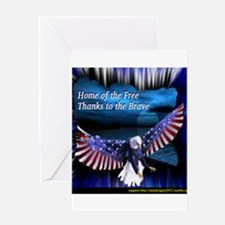 home of the free.jpg Greeting Cards