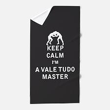 Keep Calm I'm a Vale Tudo Master Beach Towel