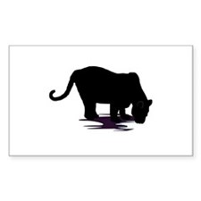 Black Panther Rectangle Decal