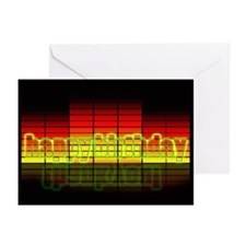 Graphic Equalizer Birthday (pk Of Greeting Cards
