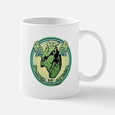Green Heart Medallion Mug