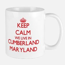 Keep calm we live in Cumberland Maryland Mugs