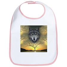 Wolf, 'Shaman's Dream' Baby Bib