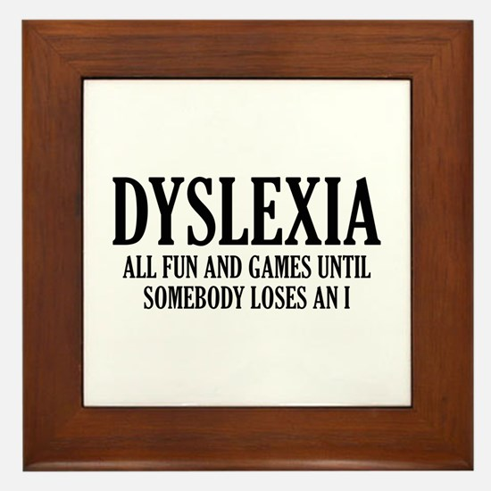 Dyslexia Framed Tile