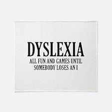 Dyslexia Stadium Blanket