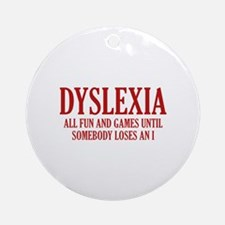 Dyslexia Ornament (Round)