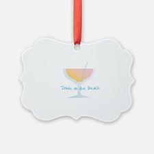 Drinks On The Beach Ornament