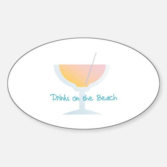 Drinks On The Beach Decal