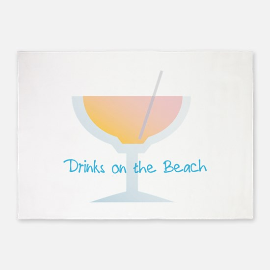 Drinks On The Beach 5'x7'Area Rug