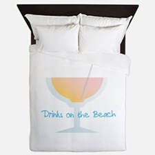 Drinks On The Beach Queen Duvet