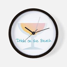 Drinks On The Beach Wall Clock