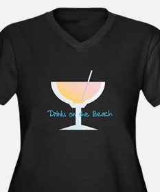 Drinks On The Beach Plus Size T-Shirt