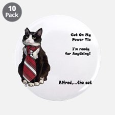 "Alfred The cat 3.5"" Button (10 pack)"