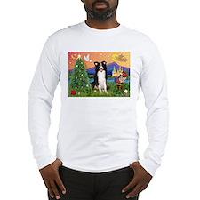 Christmas Fantasy Border Collie Lg Sleeve T-Shirt