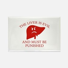 The Liver Is Evil Rectangle Magnet