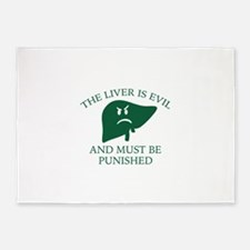 The Liver Is Evil 5'x7'Area Rug